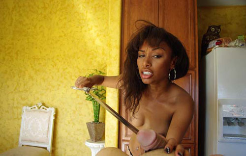 Ebony Castration Mistress