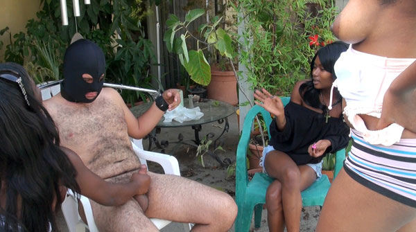 Ebony Femdom Handjob