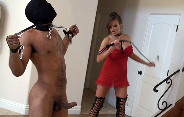 Mistress binds slave and massages clit 8